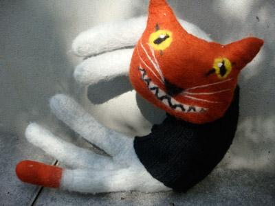 Katzen Filzkatzen Spieluhr Hasenschneiderei Gudrun